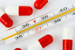 Высокая температура - симптом заражения укуса энцефалита
