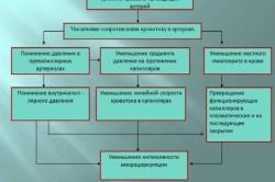 Таблица нарушений периферического кровообращения