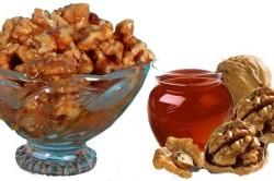 Орехи с медом для сосудов головы