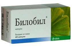 Билобил для лечения нарушения мозгового кровообращения