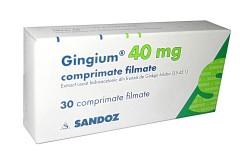 Гингиум для лечения нарушения мозгового кровообращения