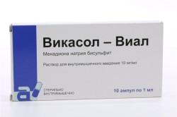 Викасол при нарушении мозгового кровообращения